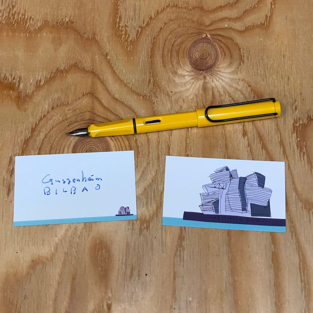 グッゲンハイム・ビルバオのノートとメッセージカード