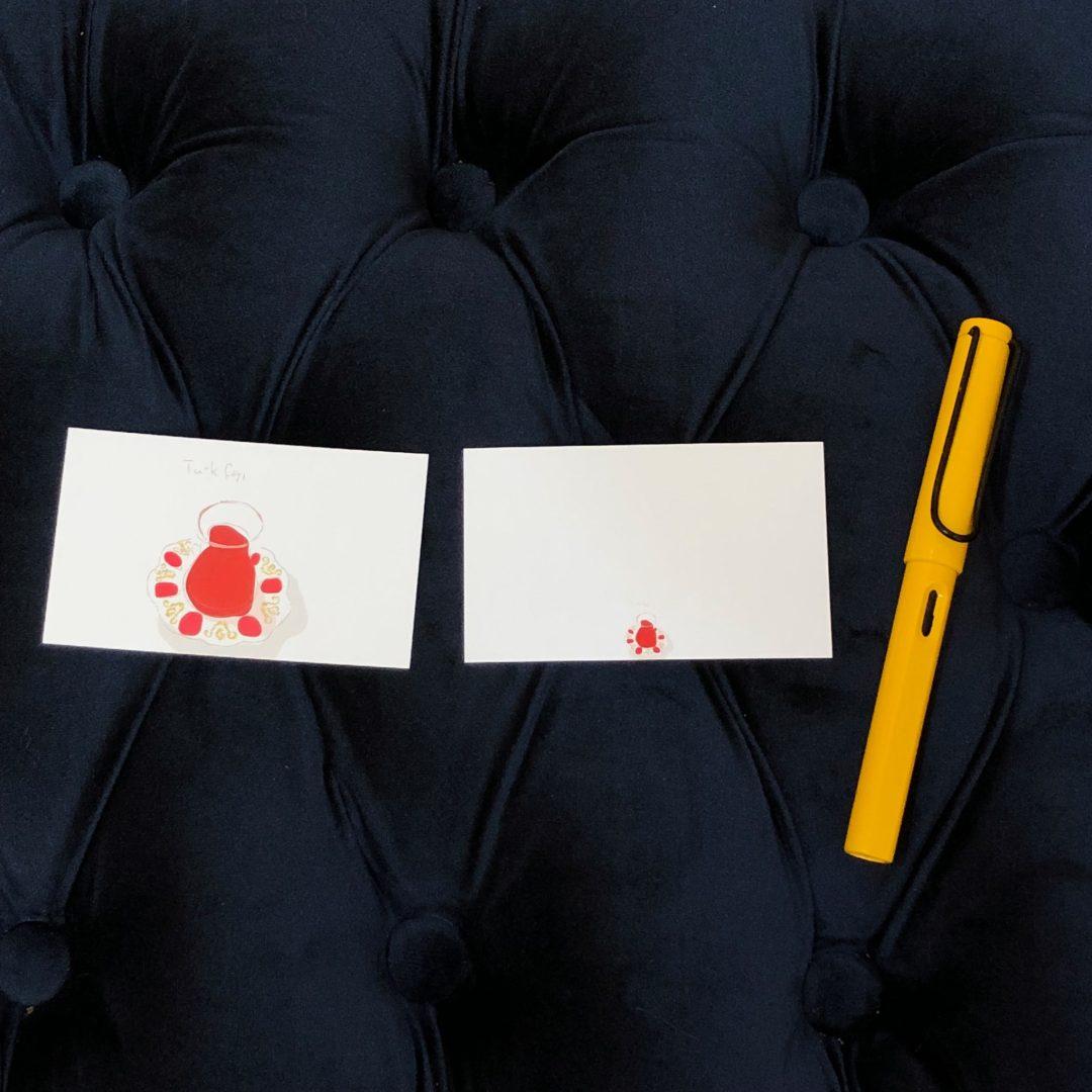 トルコのチャイのノートとメッセージカード