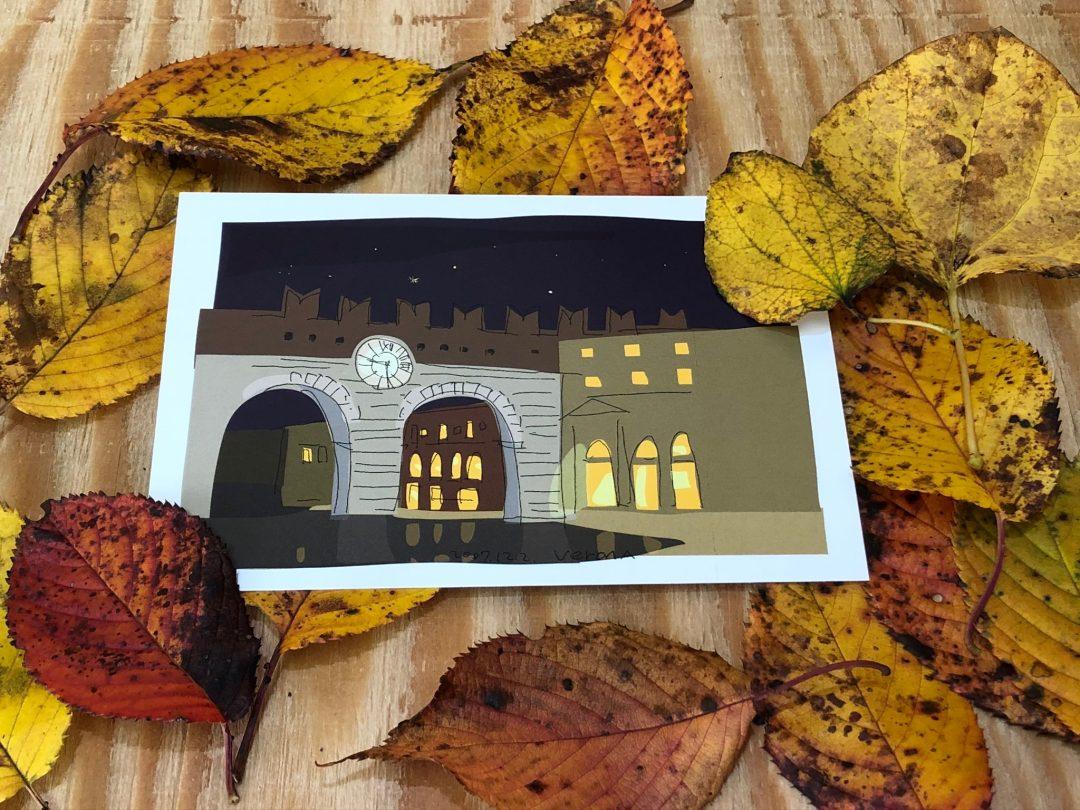 ヴェローナの城壁 ポストカード