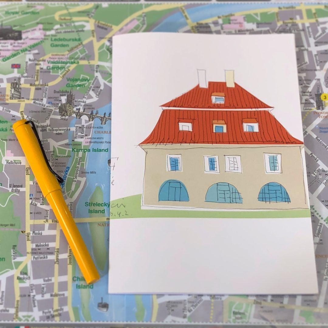チェコのプラハにあるIFcafeのノート